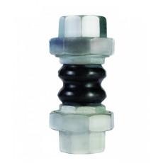 Вибровставка резьбовая для воды DEJ-16M ДУ15