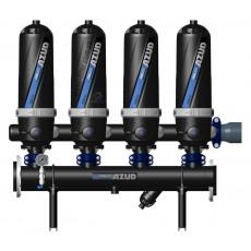 Фильтр дисковый Azud Helix Automatic 204/4FX (5-50 micron), 72 м3/ч