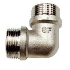 Колено 90° нр с никелевым покрытием SF Ду 15