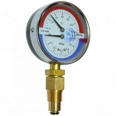 Манометр с термометром ДМТ 05 080 радиальный 0-0,4 МПа 0-120оС