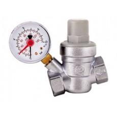 Редуктор давления воды с манометром Caleffi Ду 15