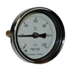 Биметаллический термометр ТБУ-63-50 (0+120)