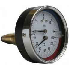 Манометр с термометром МТ–80–ТМ-О