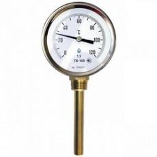 Термометр биметаллический ТБ 100-50 с радиальным  штуцером 0 +120