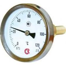 Термометр биметаллический ТБ 63 осевой 0+120