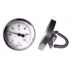 Термометр биметаллический трубный ТБТ 63 0+120