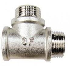 Тройник РВ-РН-РН SF Ду 15 с никелевым покрытием