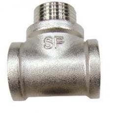 Тройник РВ-РН-РВ SF Ду 15 с никелевым покрытием